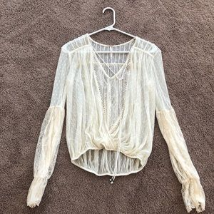 Lace peasant top from Free People 🌙